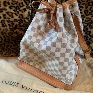 Louis Vuitton Damier Azur Noé BB Authentic purse
